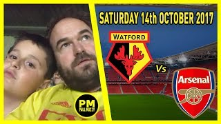 Watford FC v Arsenal - 14/10/17 EPL live Match day Vlog