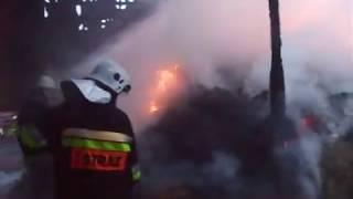 OSP Niepokalanów - pożar obory
