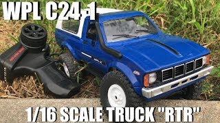 "WPL C-24 1/16 Scale Truck ""RTR"" Test Drive"