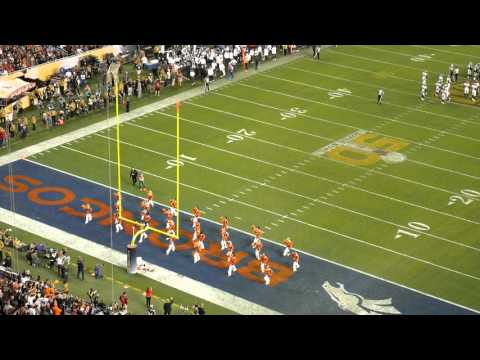 Denver Broncos Cheerleaders perform at Super Bowl 50