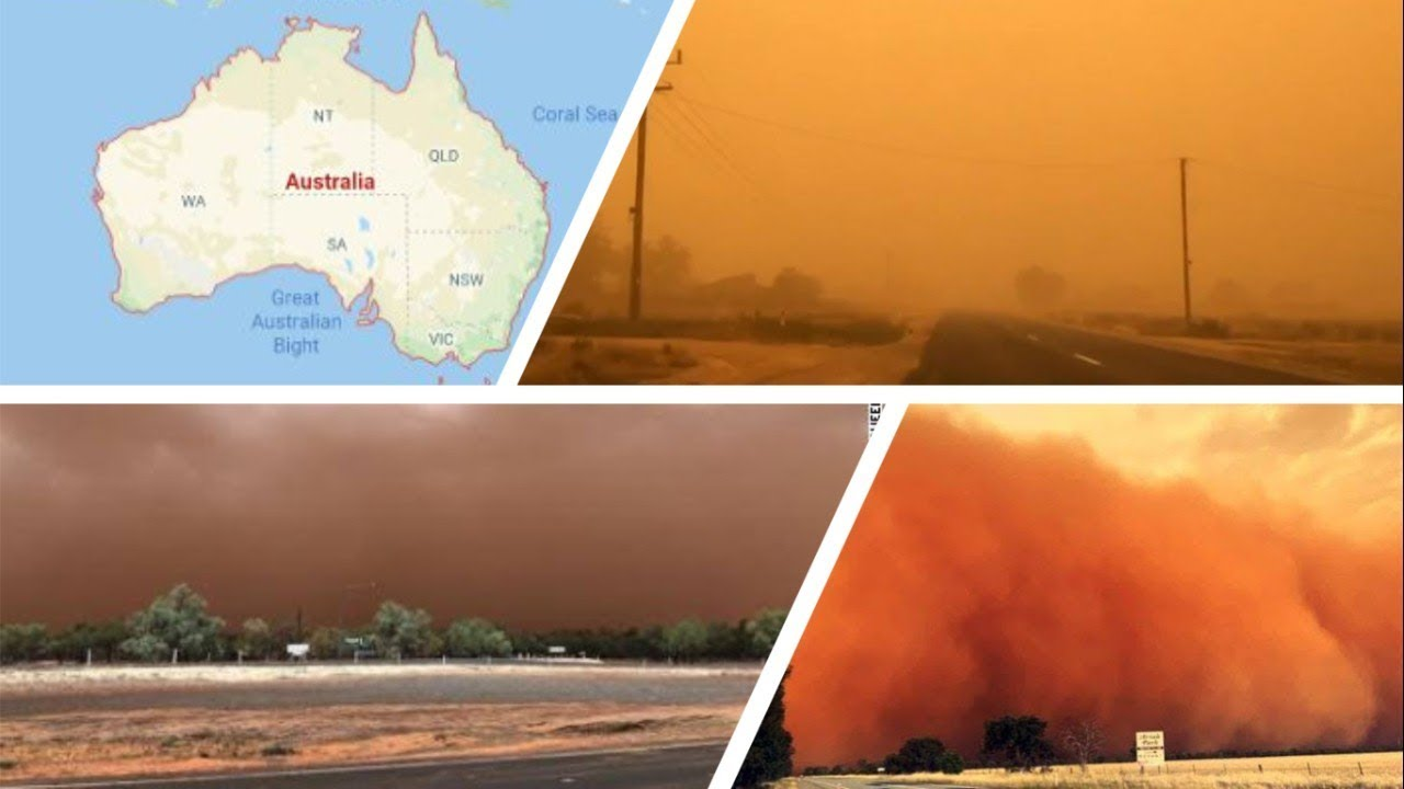 Dust storm has turned an Australian city red - YouTube