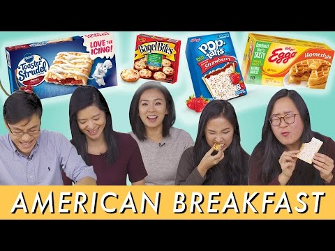 ASIANS Try Instant AMERICAN Breakfasts