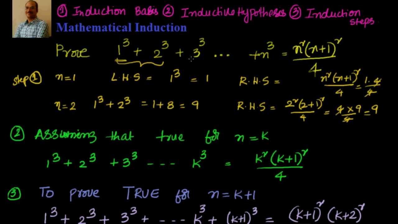 Mathematical Induction: Prove that 1^3 + 2^3 +3^3 ... n^3 = n^2 {(n+1)^2} /4 - YouTube