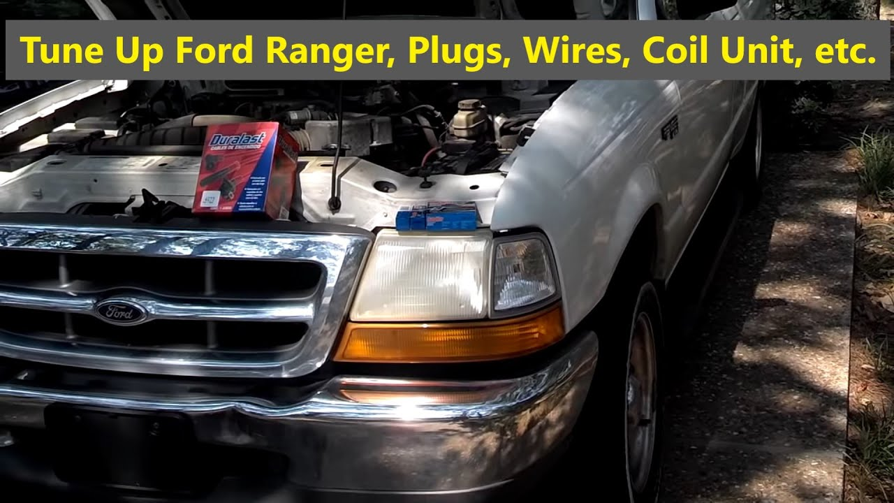ford ranger tune up spark plugs, wires, and ignition distributor module  replacement - votd - youtube