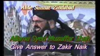 Very good Answer to Zakir Naik by Muzaffar hussain shah
