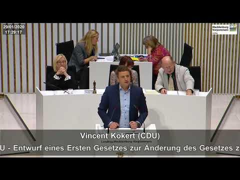 "VINCENT KOKERT, Errichtung Sondervermögen ""Strategiefonds"", CDU-Fraktion, Landtag MV, 20.01.2020"