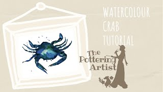 Watercolour Crab Demo for Beginners - REALTIME
