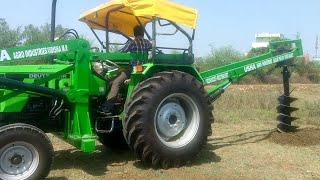 Deutz Fahr Agromaxx 45 Tractor | Post Hole Digger | USHA AGRO INDUSTRIES