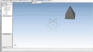 Урок по Компас-График v12 - усеченная 4 х гранная пирамида