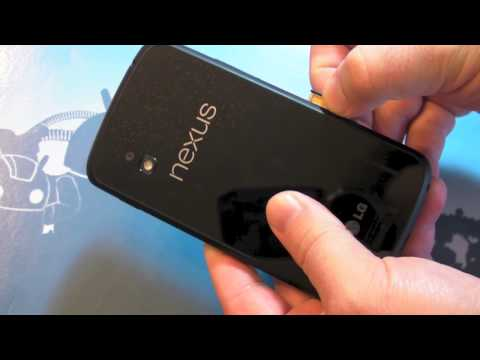 How to install a SIM card in the Nexus 4.