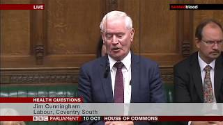House of Commons : Health Question - Tuesday 10th October 2017