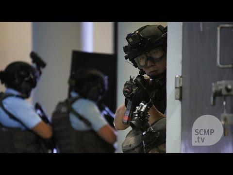 Elite Hong Kong police units conduct anti-terror drill ahead of China leaders visit