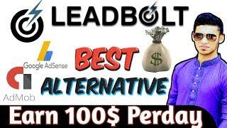 admob alternative || Earn money from Leadbolt 100$