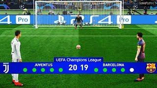 PES 2019 - Juventus vs Barcelona - Final UEFA Champions League UCL - Penalty Shootout