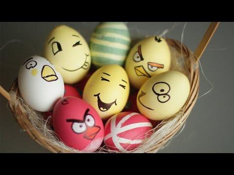 Роспись яиц к Пасхе рисунки с использованием трафаретов