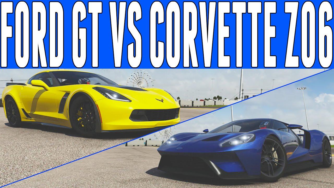 forza 6 drag race 2017 ford gt vs chevrolet corvette z06. Black Bedroom Furniture Sets. Home Design Ideas