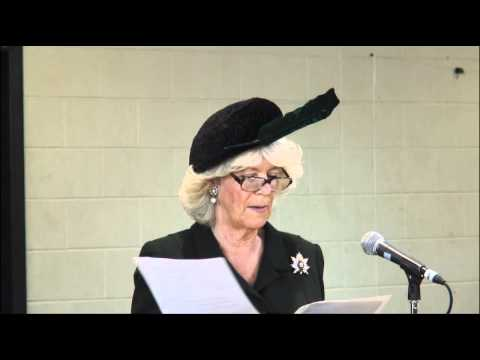 Canada 2012: The Duchess of Cornwall gives a speech at The Queen's Own Rifles Canada