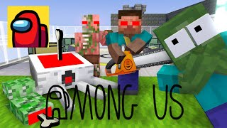 Monster School : AMONG US  CHALLENGE PART 2 - Minecraft Animation