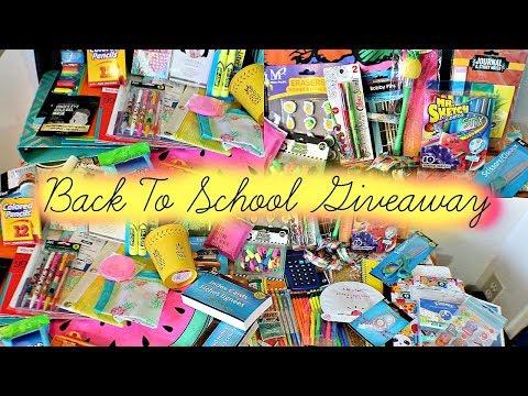 HUGE INTERNATIONAL BACK TO SCHOOL GIVEAWAY!!!