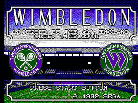 TOP 70 SEGA MASTER SYSTEM | WIMBLEDON (Licensed by The All England Lawn Tennis Club, 1992)