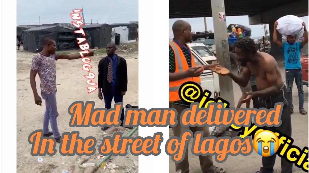 Download A mad man delivered in the street of Lagos..and a pastor ready to throw blows at a young man for...