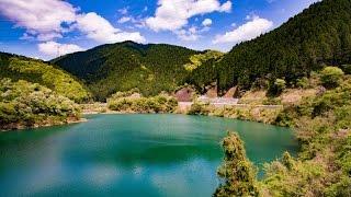 4K 日吉ダムとダム湖 京都ぶら歩き・散歩 散策 KYOTO Hiyoshi Dam WALKING with DJI OSMO