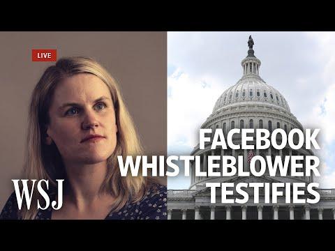 Watch Live: Facebook Whistleblower Frances Haugen Testifies   WSJ