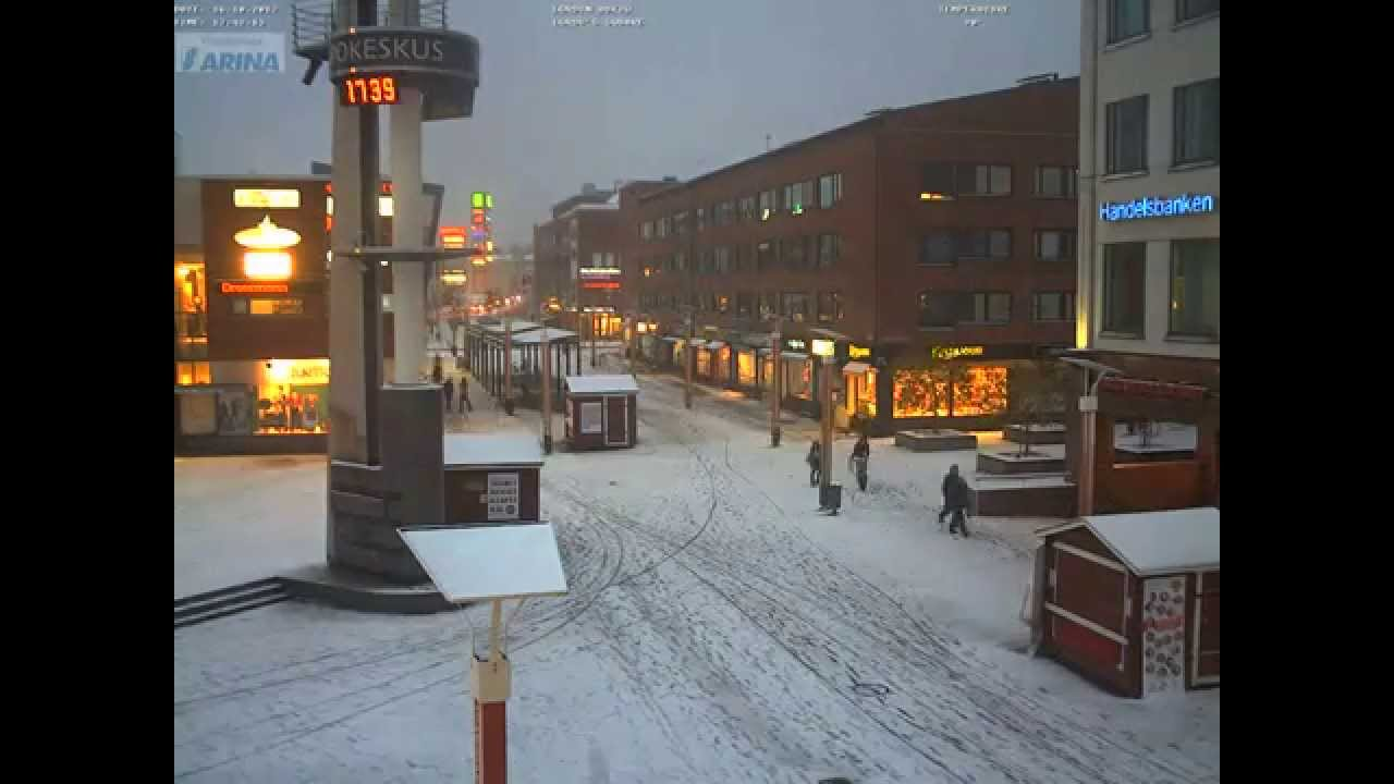 Snowing time in Rovaniemi 16.10.2012 TimeLapse from