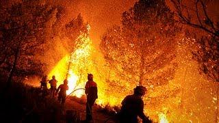 Impactantes imágenes de los incendios forestales de 2012