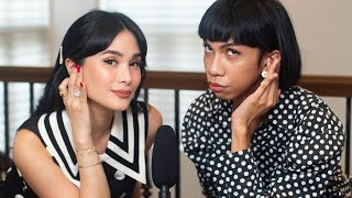 ASMR MAKEUP CHALLENGE + MUKBANG WITH MIMIYUUUH FT. HAPPY SKIN | Heart Evangelista