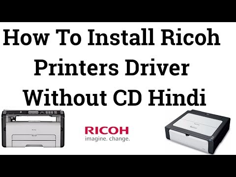 How To Install Ricoh Printers Driver Without CD Hindi