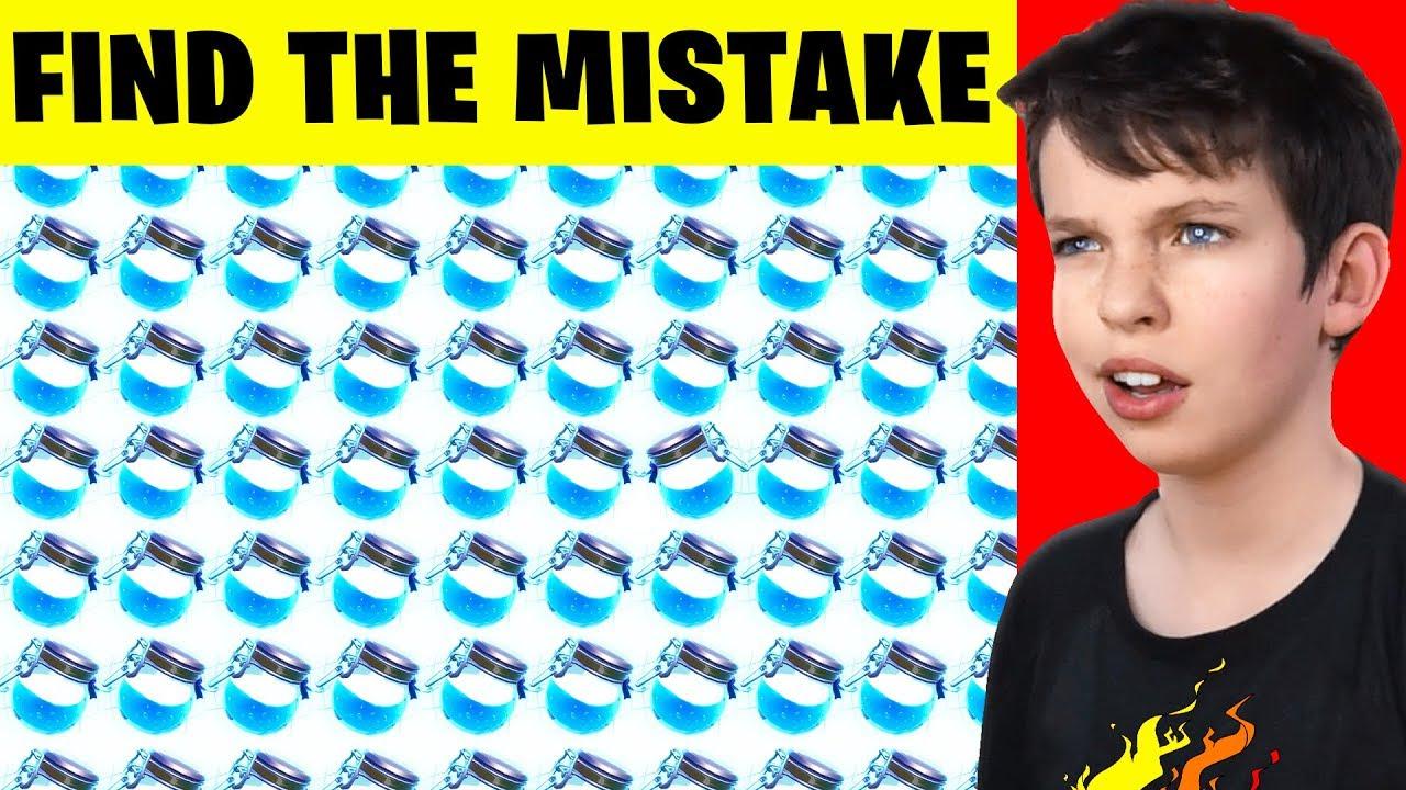 Fortnite Spot the Difference Gehirnspiel für meinen kleinen Bruder! - Herausforderung + video