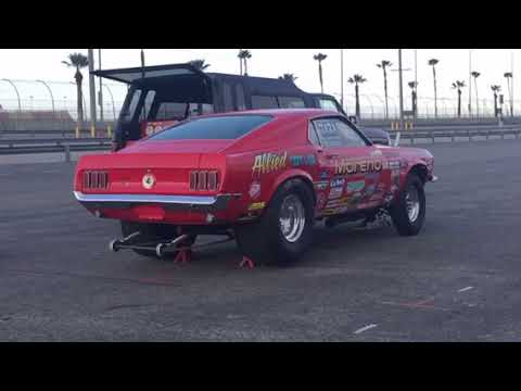 fred moreno warm up cobra jet mustang  youtube