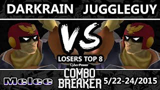 Combo Breaker - Darkrain (Captain Falcon) Vs. MIOM | Juggleguy (Falcon) SSBM Losers Top 8 - Melee
