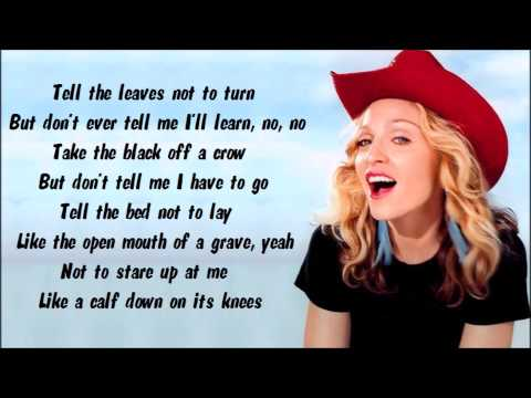 Madonna - Don't Tell Me Karaoke / Instrumental with lyrics on screen