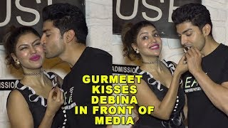 Gurmeet Choudhary KISSES Debina Bonnerjee In Front Of Media After Marriage Anniversary 2018