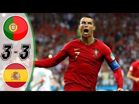 Bồ đào nha vs Tây Ban Nha 3-3 Ronaldo Lập Hattrick