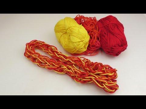 Stricken für Anfänger – Kinderleicht stricken mit den Fingern lernen – Schal für Baby oder Puppe