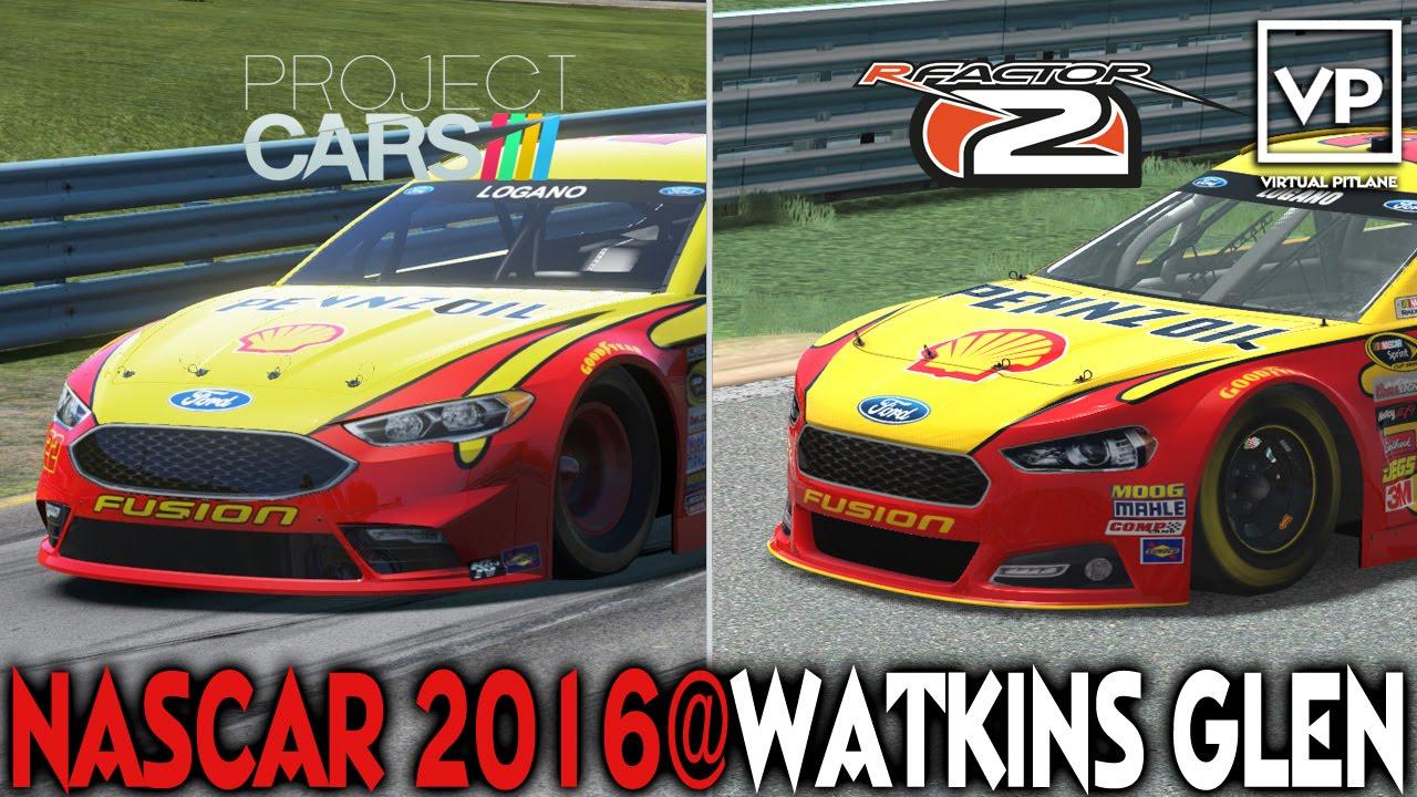 Project Cars X Rfactor 2 Nascar Watkins Glen Youtube