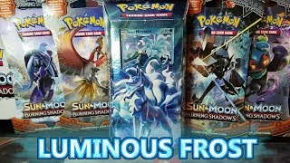NEW POKEMON TCG BURNING SHADOWS LUMINOUS FROST THEME DECK + 4 BOOSTER PACK OPENING!