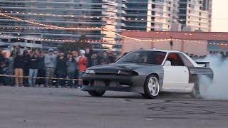 Nissan Skyline drifts on the Vegas Strip!!
