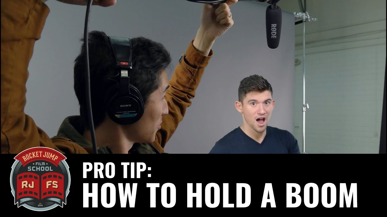 Pro Tip: HOW TO HOLD A BOOM