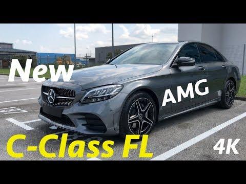 Paket Mercedes C-Class AMG 2018 Pertama Dalam Ulasan Mendalam Dalam 4K-lampu Ambient Dalam Gelap