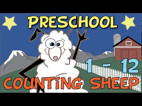 Learn Counting | Preschool Numbers Counting Sheep 1-12