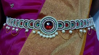 DIY | TRADITIONAL AND BEAUTIFUL DESIGNER KAMARBAND WAIST BELT FOR BRIDAL