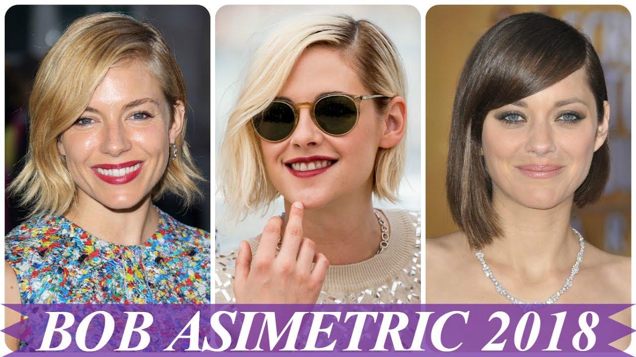 Modele De Coafuri Par Bob Asimetric 2018 Youtube