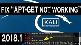 FIX : apt-get not working in Kali Linux 2018.1