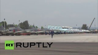 Syria: Russian jets perform sorties from Hmeymin airbase