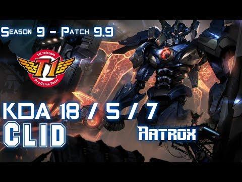 SKT T1 Clid AATROX vs SEJUANI Jungle - Patch 9.9 KR Ranked