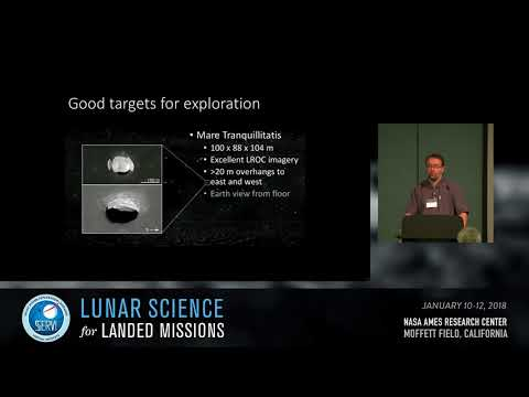 Lunar Magmatism and Volcanic Deposits #2: Pits and Lava Tubes Session Chair: Tim Glotch